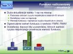 fundusz rozliczeniowy aktualizacja