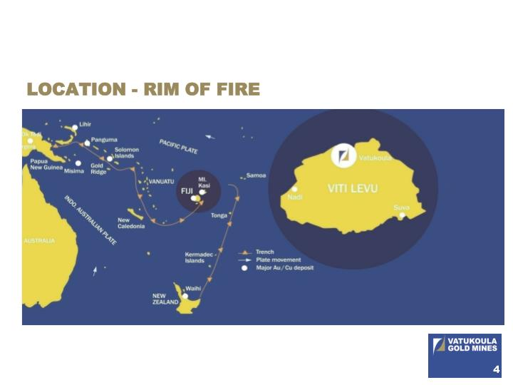 LOCATION - RIM OF FIRE