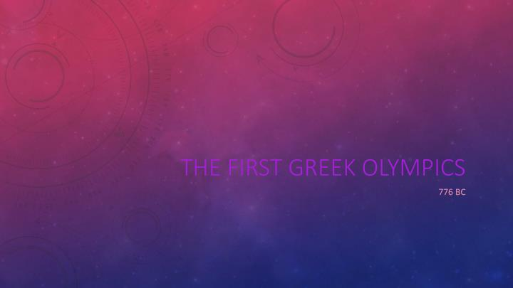 the first greek olympics n.