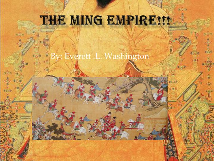 the ming empire n.
