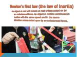 newton s first law the law of inertia