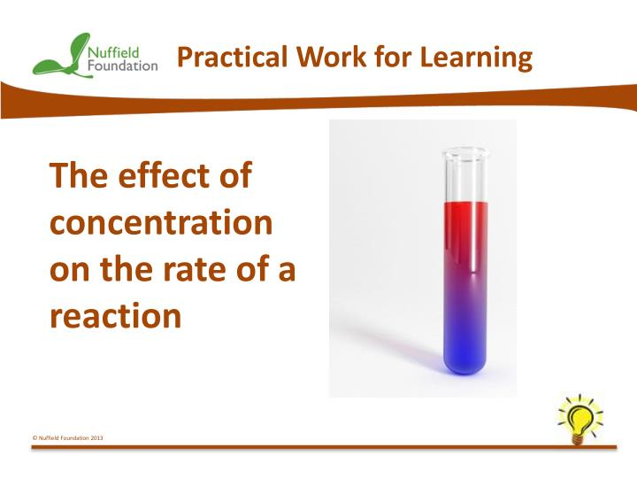 practical work for learning n.