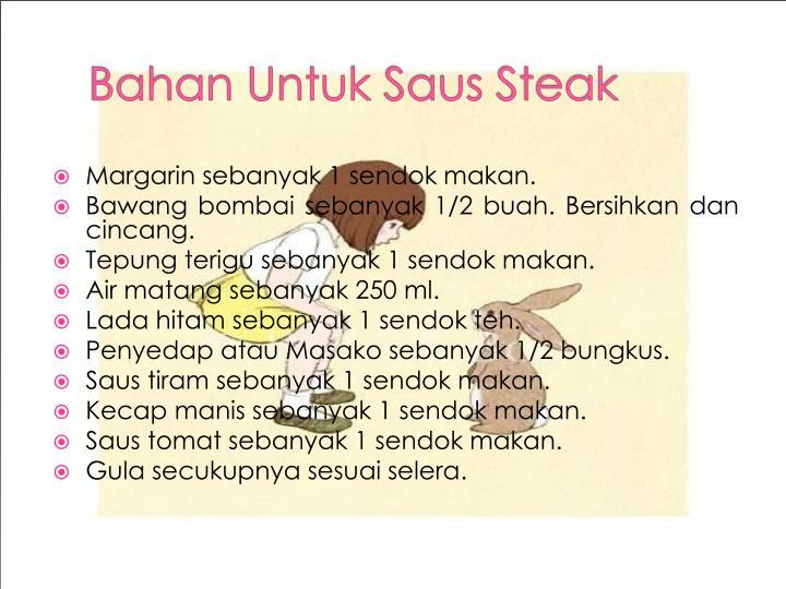 Bahan untuk saus steak