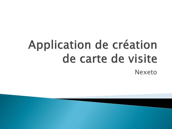 Application De Creation Carte Visite