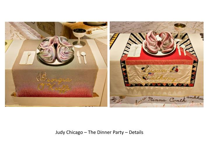 Judy Chicago – The Dinner Party – Details