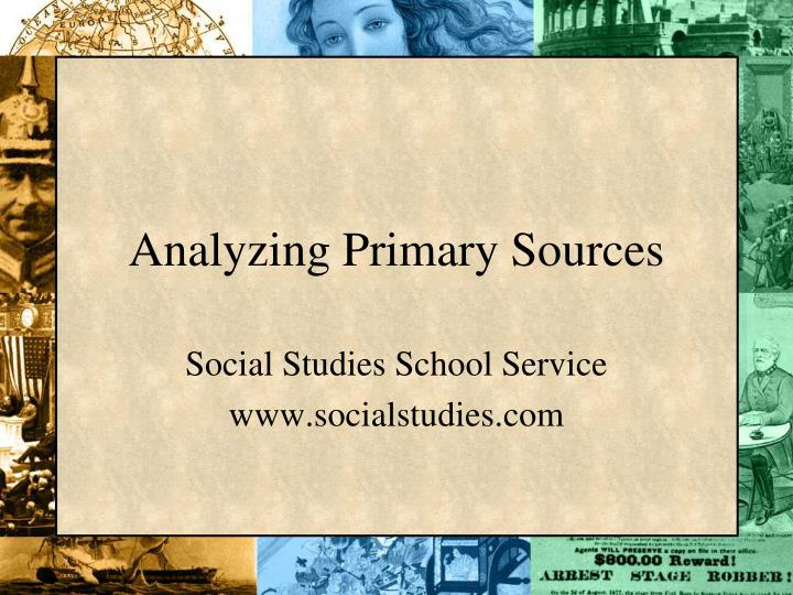 analyzing primary sources n.