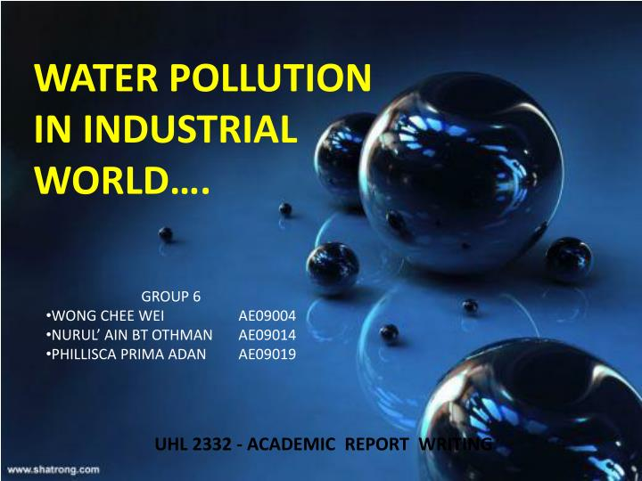 water pollution in industrial world n.