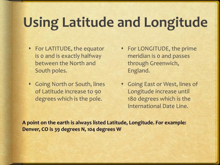 Using Latitude and Longitude