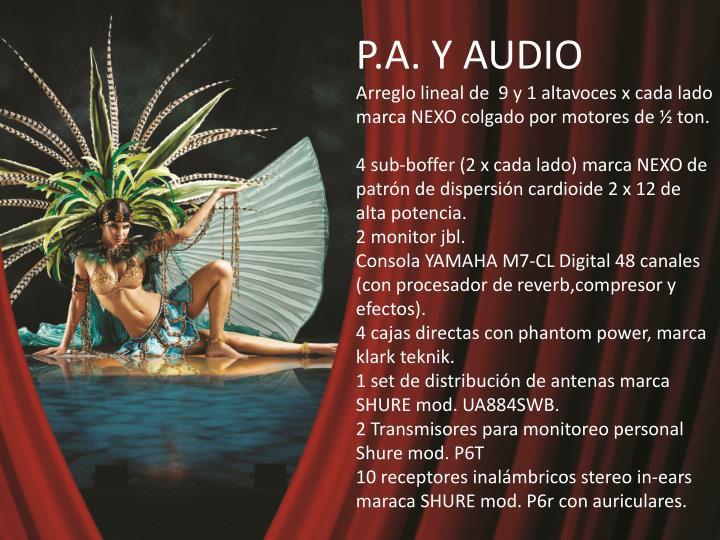 P.A. Y AUDIO