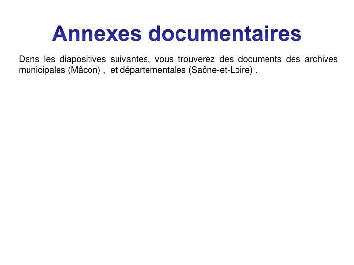 Annexes documentaires