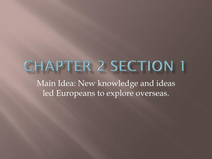 chapter 2 section 1 n.