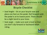 bicycle checklist