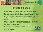 buying a b icycle