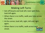 making left turns