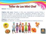 taller de los mini chef