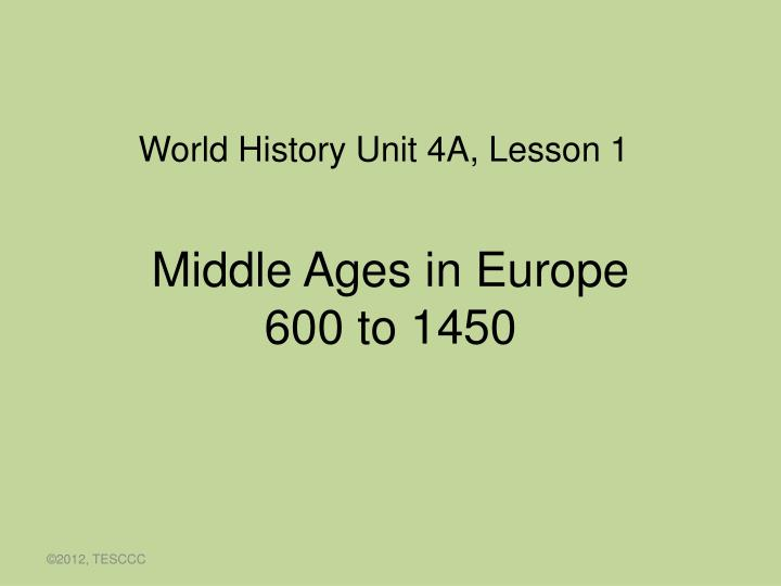Middle ages in europe 600 to 1450