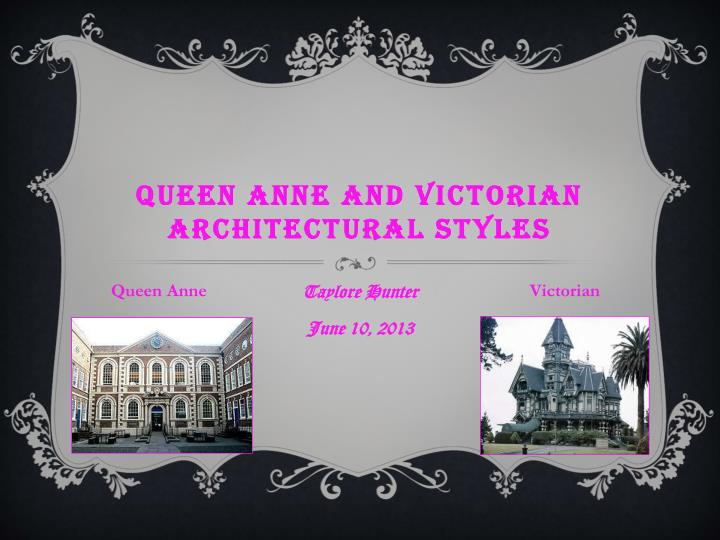 queen anne and victorian architectural styles n.