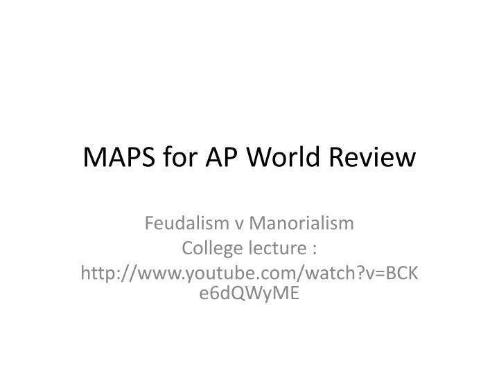 maps for ap world review n.