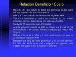 relaci n beneficio costo