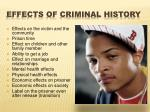effects of criminal history