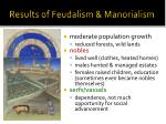 results of feudalism manorialism