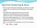 spectral clustering ncut