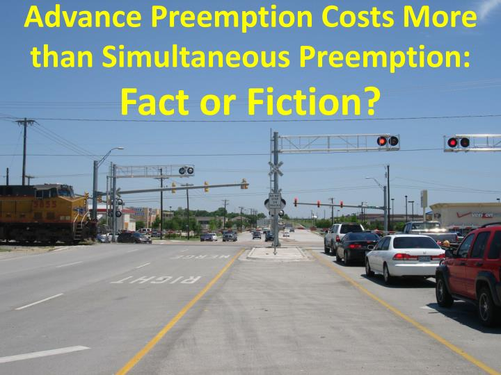 advance preemption costs more than simultaneous preemption fact or fiction n.