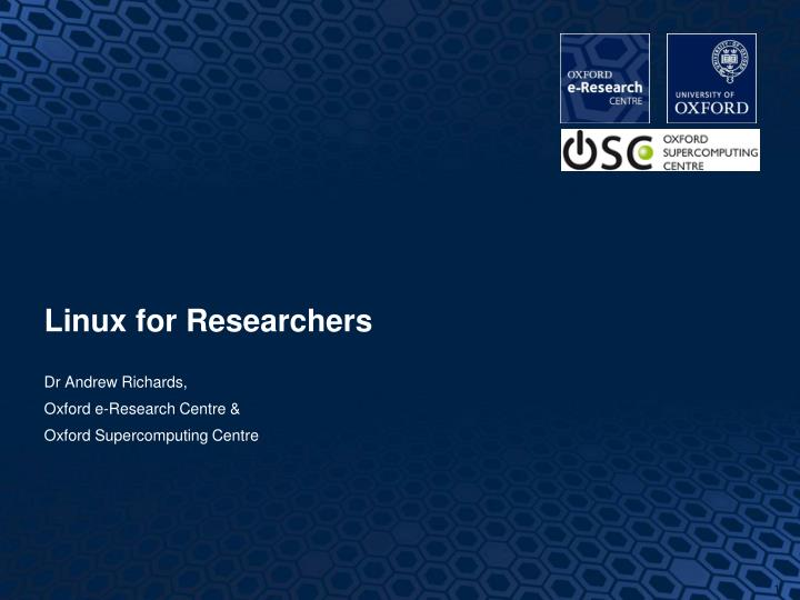 linux for researchers n.