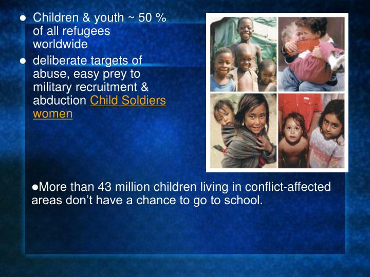More than 43 million children living in conflict-affected areas don't have a chance to go to school.