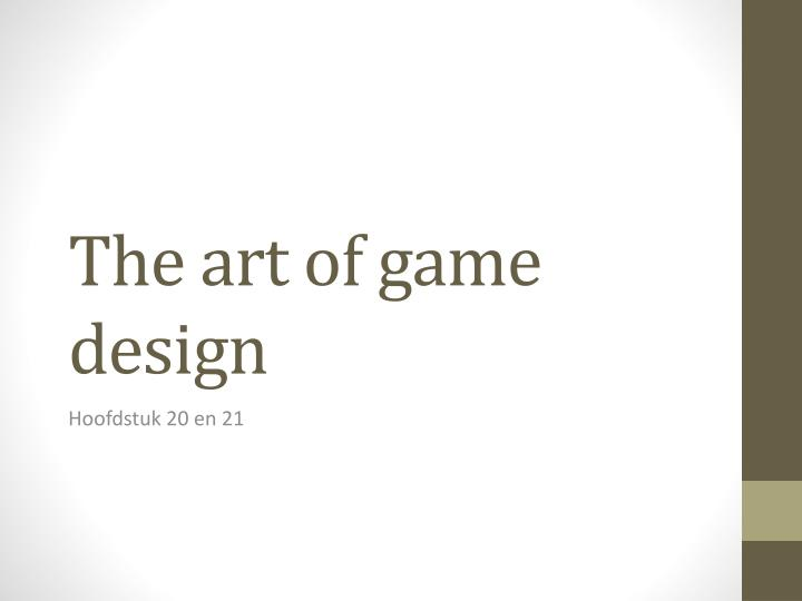 the art of game design n.