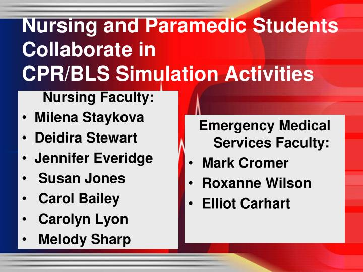nursing and paramedic students collaborate in cpr bls simulation activities n.