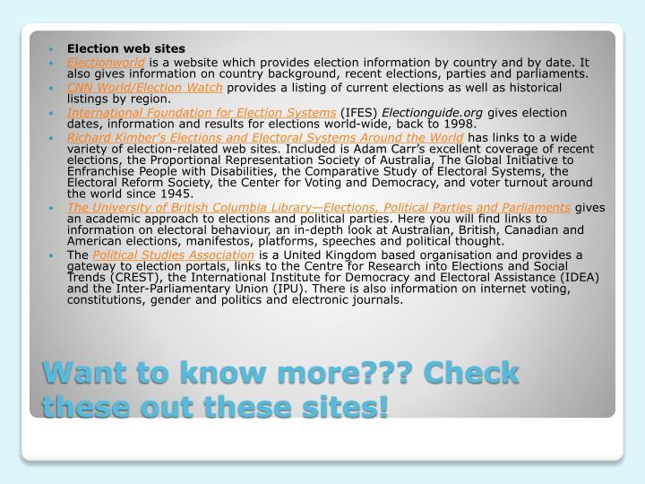 Election web sites