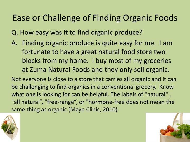 Organic Vs Conventional Food Powerpoint