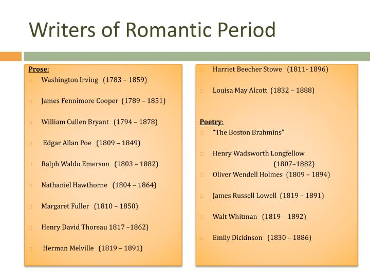 the effects on the romantic era by washington irving Romanticism encouraged writing literature of remarkable emotional effects in the early nineteenth century, washington irving ( legend of sleepy hollow ), james fenimore cooper ( last of the mohicans ), and edgar allen poe ( the pit and the pendulum ) made their marks as gifted authors.