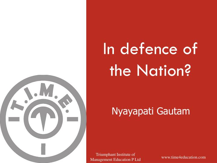 in defence of the nation n.