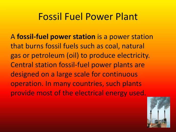 Fossil Fuel Power Plant