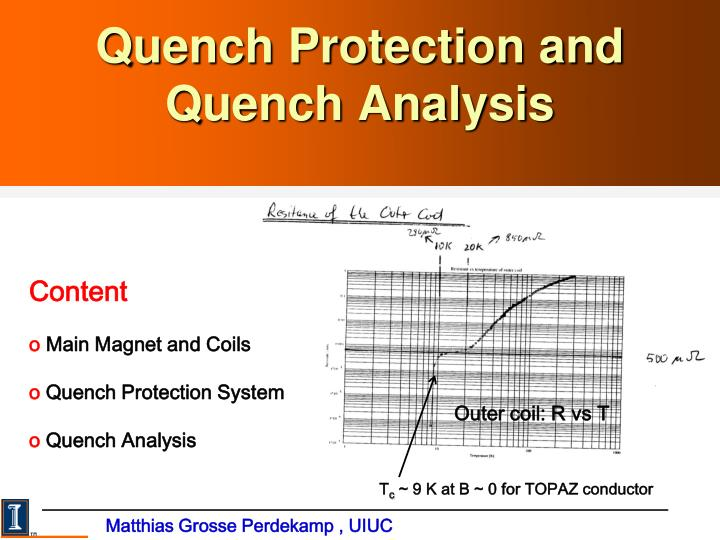 quench protection and quench analysis n.