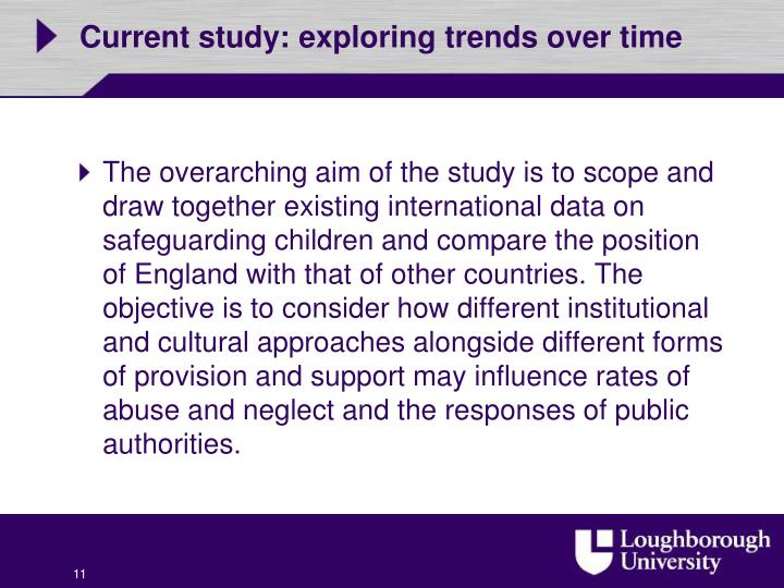Current study: exploring trends over time