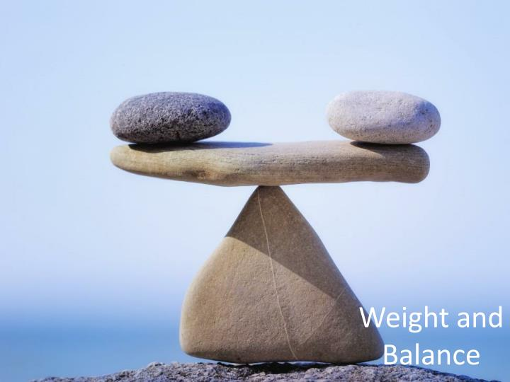 weight and balance n.