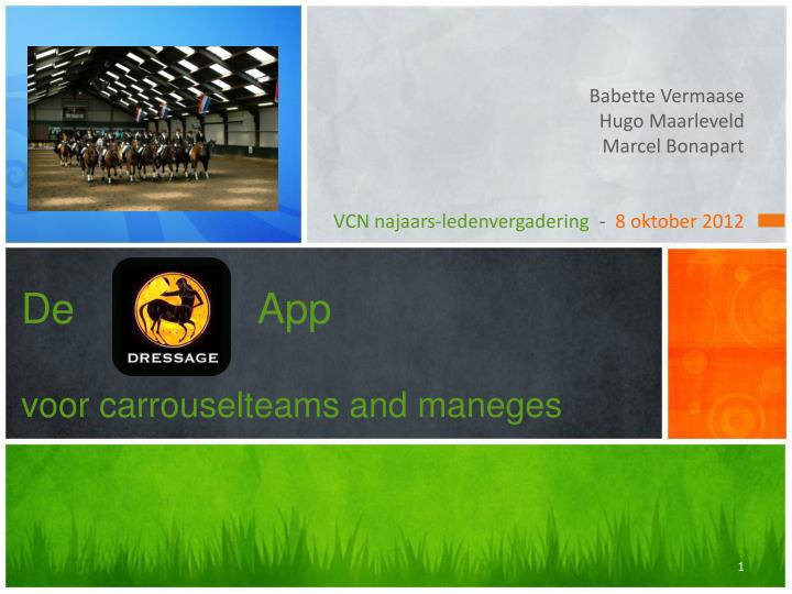 de app voor carrouselteams and maneges n.