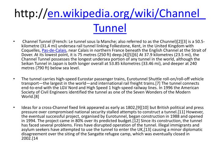 channel tunnel project essay Channel tunnel and project management in twelve pages this huge project is examined in a consideration of the process, what can go wrong, and the role project.