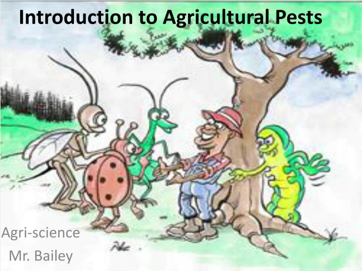 introduction to agricultural pests n.