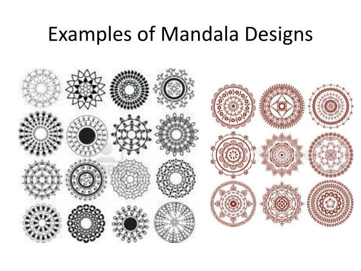 Examples of mandala designs