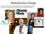 media culture change