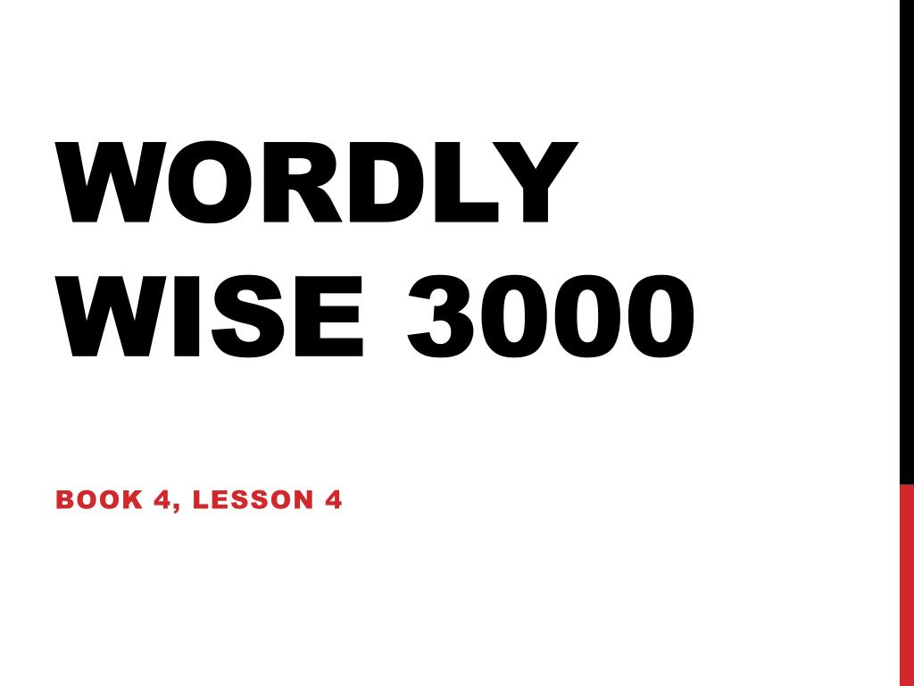 Ppt Wordly Wise 3000 Powerpoint Presentation Id2040502