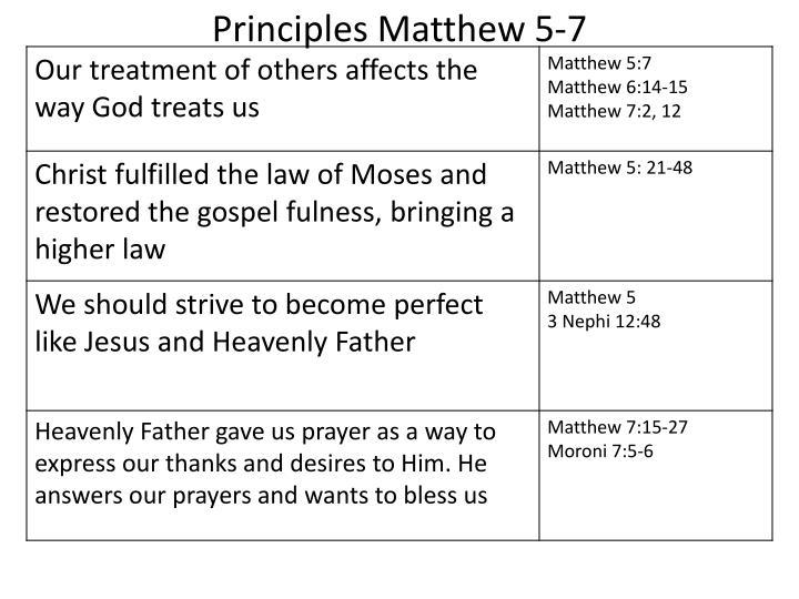 Principles Matthew 5-7