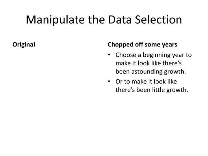 Manipulate the Data Selection