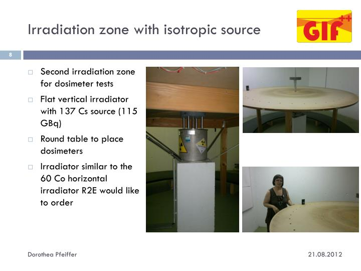 Irradiation zone with isotropic source