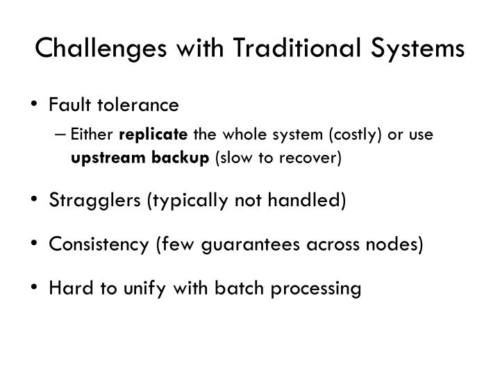 Challenges with Traditional Systems