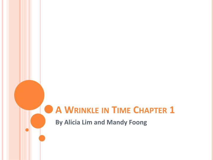 a wrinkle in time chapter 1 n.
